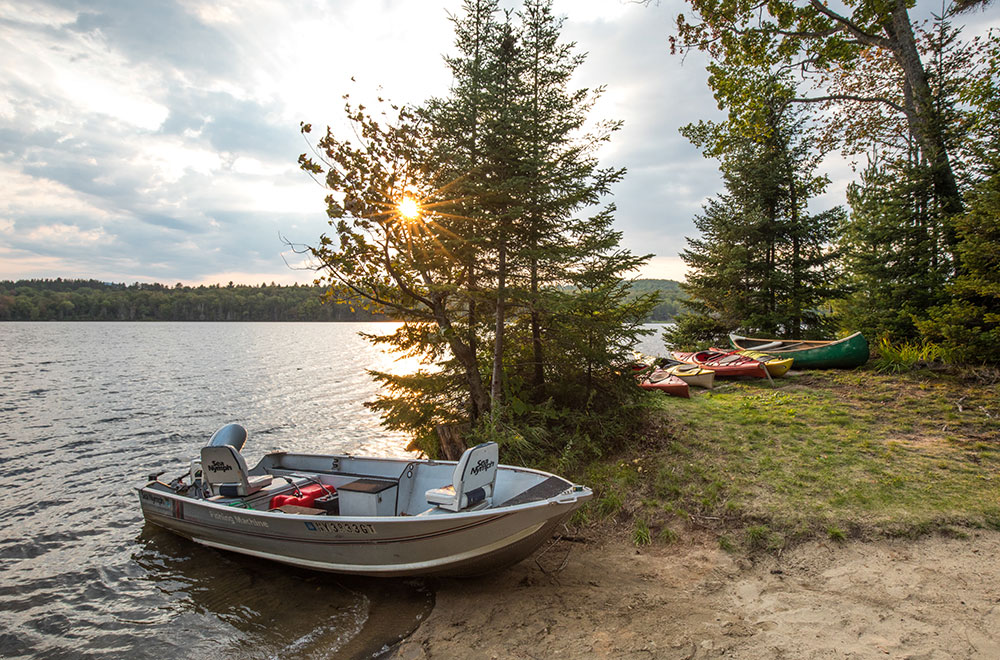 TOUR THE LAKE ON OUR 14 FT. ALUMINUM BOAT