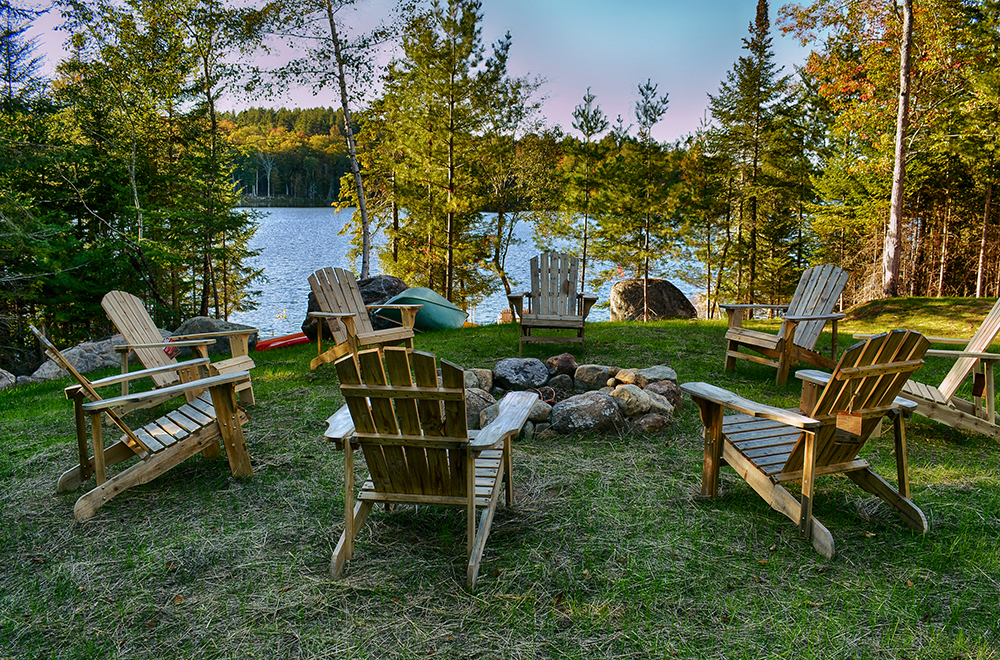 ADK CHAIRS AROUND CAMPFIRE